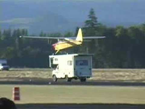 Plane Landing on Motorhome on World's Shortest Runway