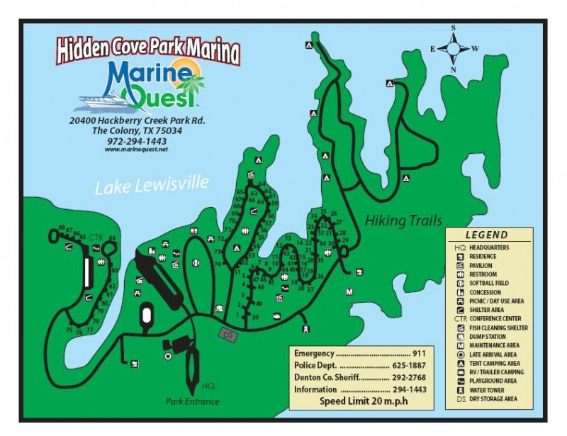 Hidden Cove Park & Marina - The Colony, TX - RV Parks