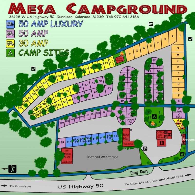 Mesa Campground - Gunnison, CO - RV Parks