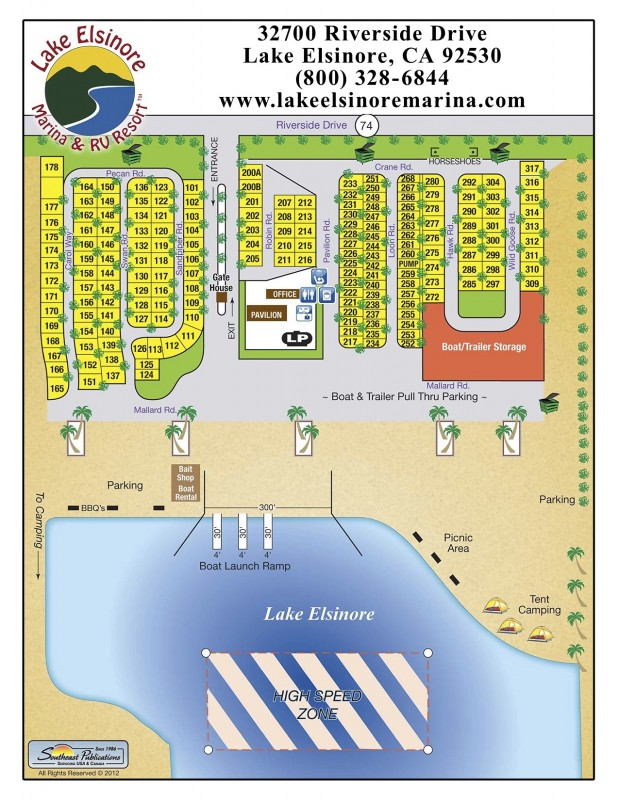Lake Elsinore Marina & RV Resort - Lake Elsinore, CA - RV Parks