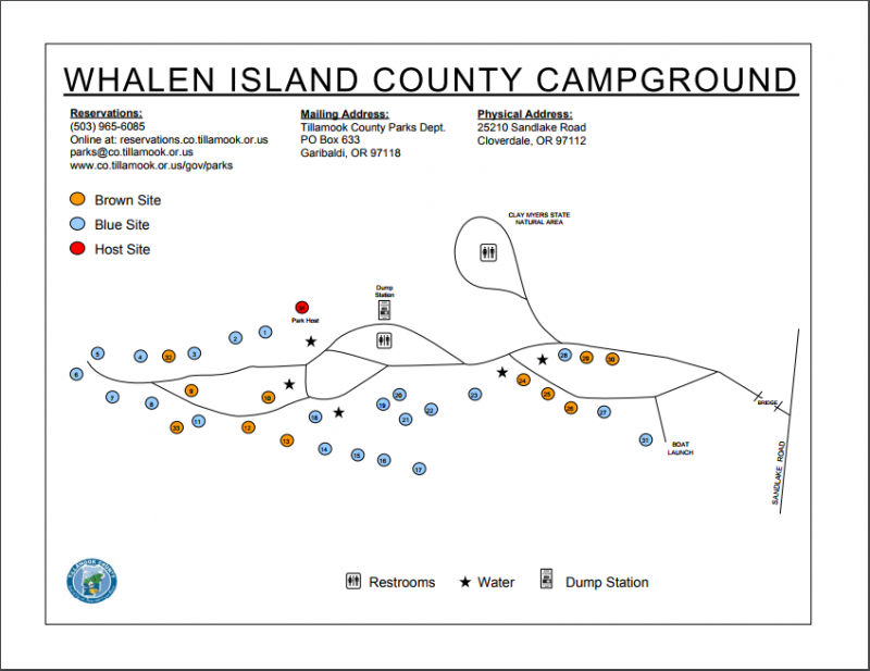 Whalen Island County Campground - Cloverdale, OR - County / City Parks