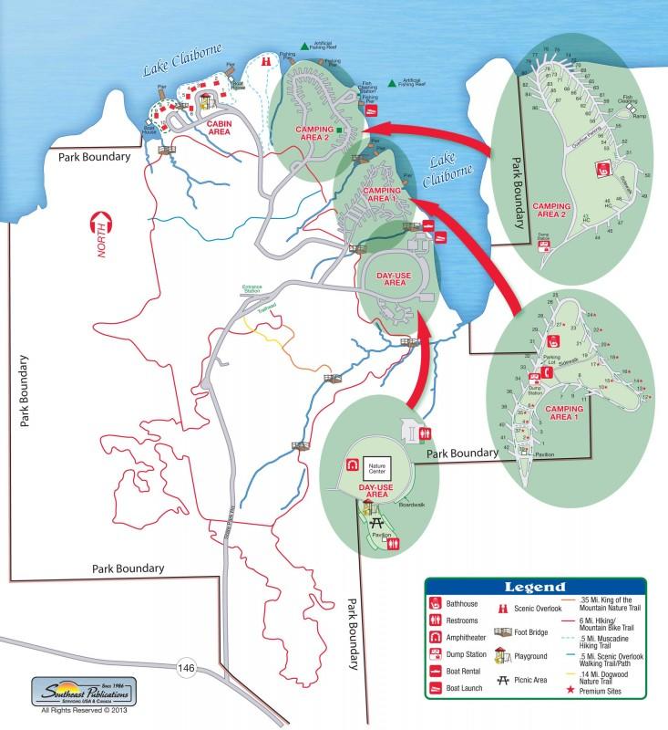 Lake Claiborne State Park - Louisiana Hiker on louisiana grand isle state park map, louisiana state map cities, louisiana chicot state park map, louisiana purchase state park arkansas,