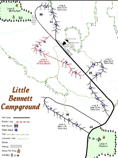 Little Bennett Campground - Clarksburg, MD - County / City Parks