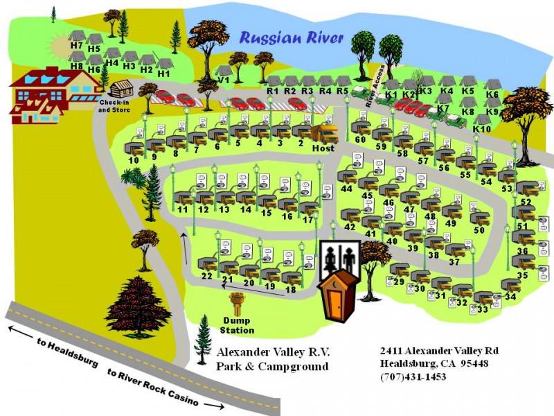 Alexander Valley Camp Ground - Healdsburg, CA - RV Parks