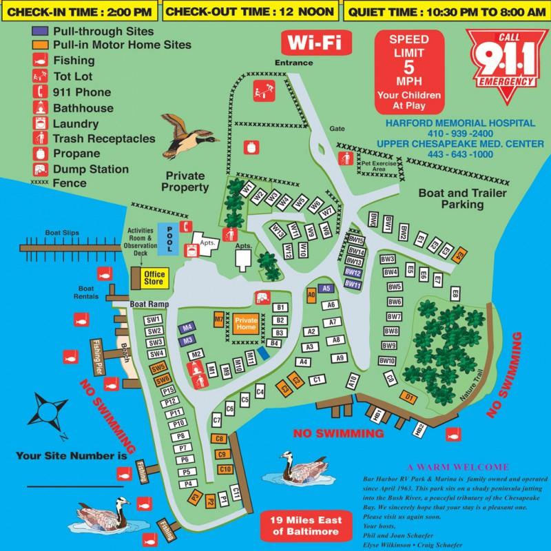 Bar Harbor Rv Park & Marina - Abingdon, MD - RV Parks