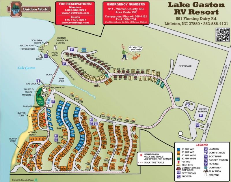 Lake Gaston RV Camping Resort Littleton NC Thousand Trails - 570 area code