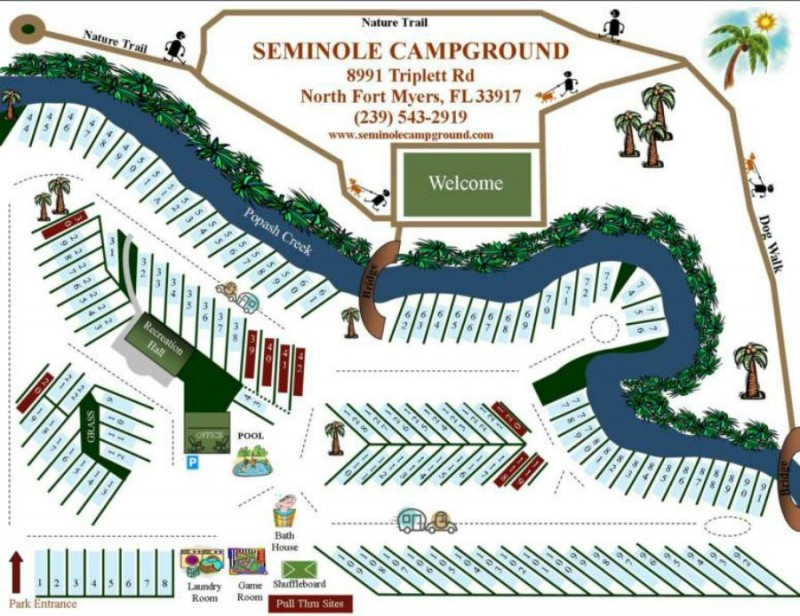 Seminole Campground & RV Park - Fort Myers, FL - RV Parks