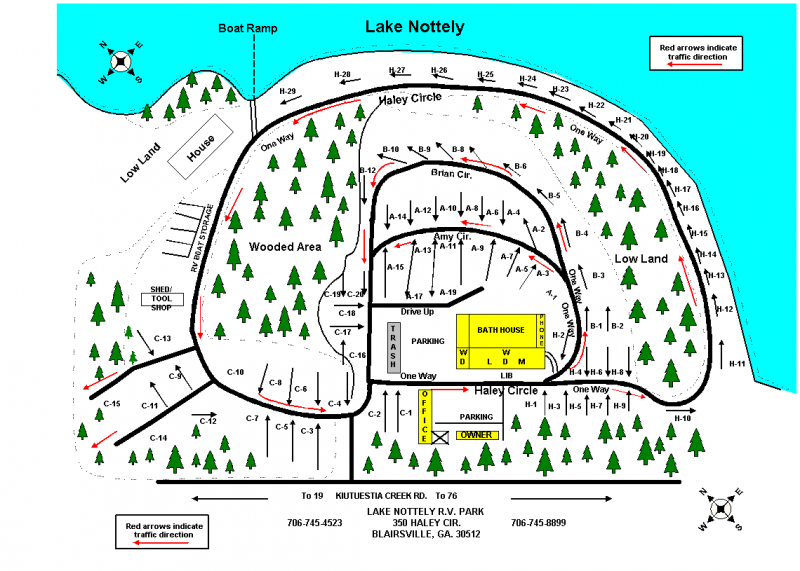 Lake Nottely RV Park Office - Blairsville, GA - RV Parks