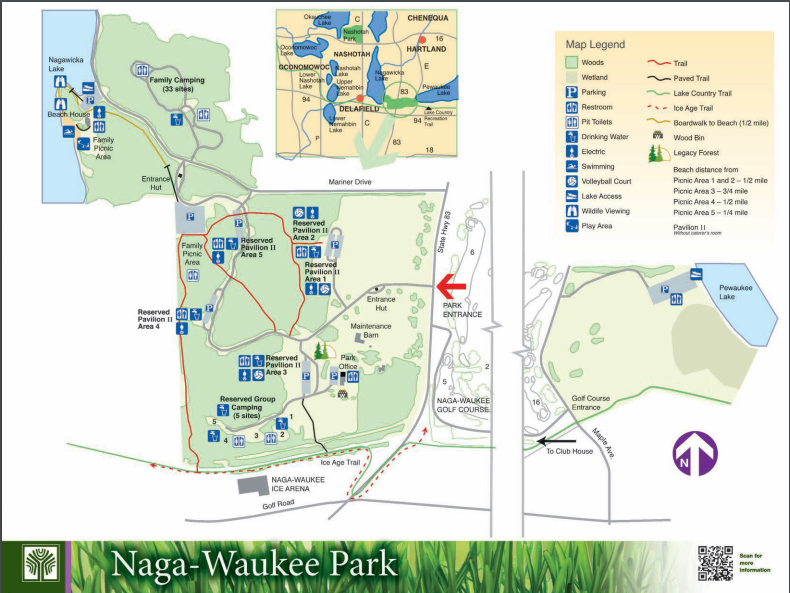 Naga Waukee Park - Hartland, WI - County / City Parks