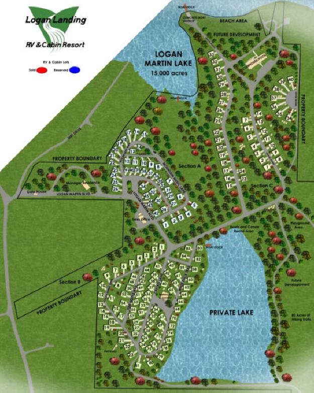 Logan Landing RV & Cabin Resort - Alpine, AL - RV Parks