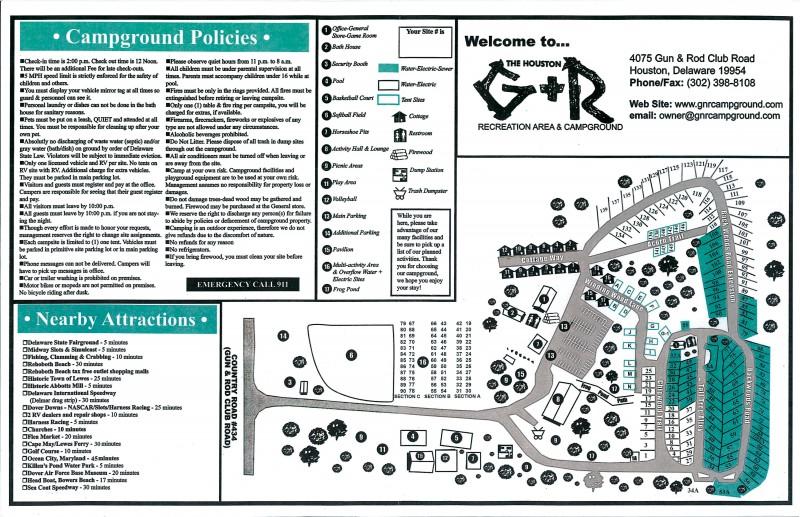G & R Recreation Campground - Houston, DE - RV Parks