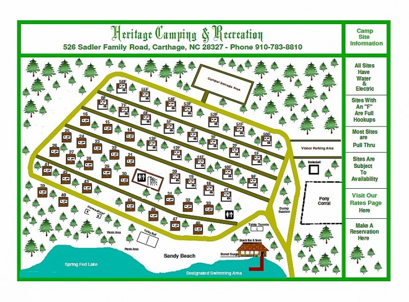 Heritage Camping Resort - Carthage, NC - RV Parks
