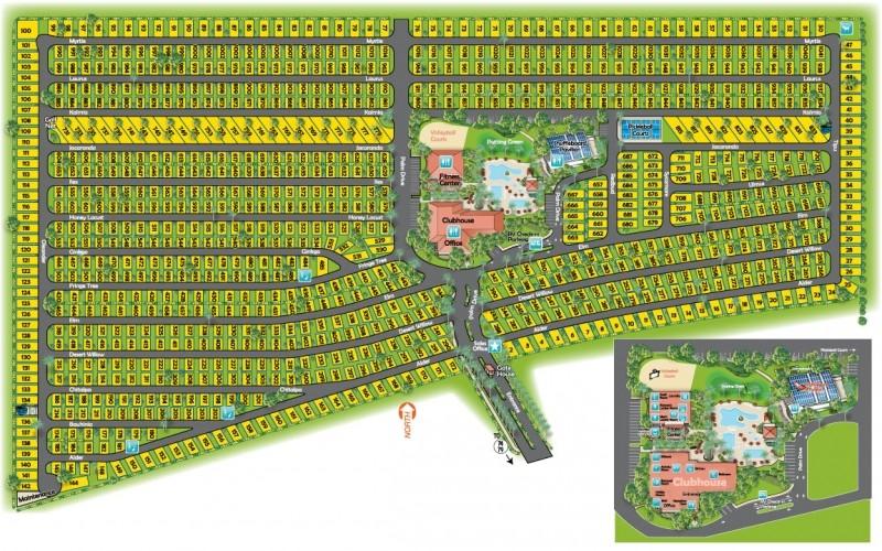 Golden Village Palms RV Resort   - Hemet, CA - RV Parks