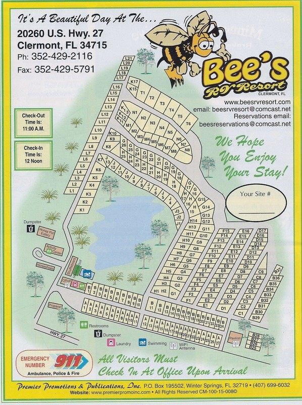 Bees RV Resort - Clermont, FL - RV Parks