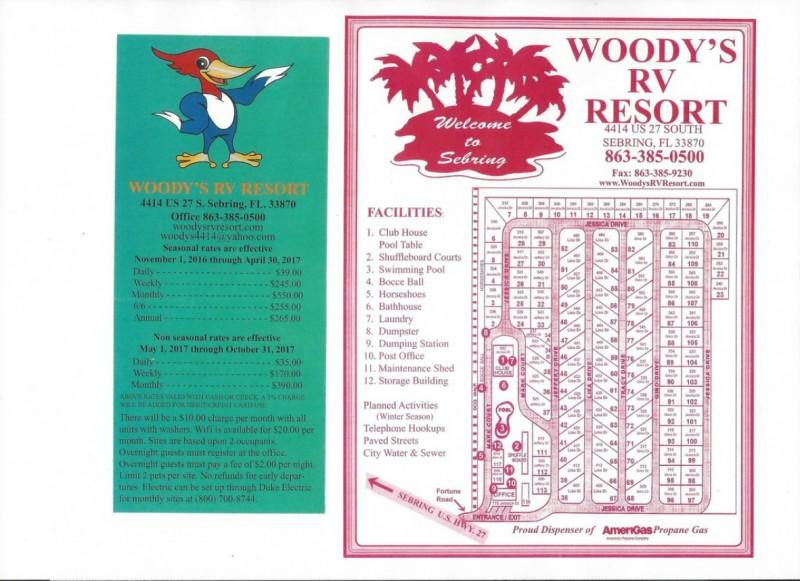 Woodys RV Resort - Sebring, FL - RV Parks
