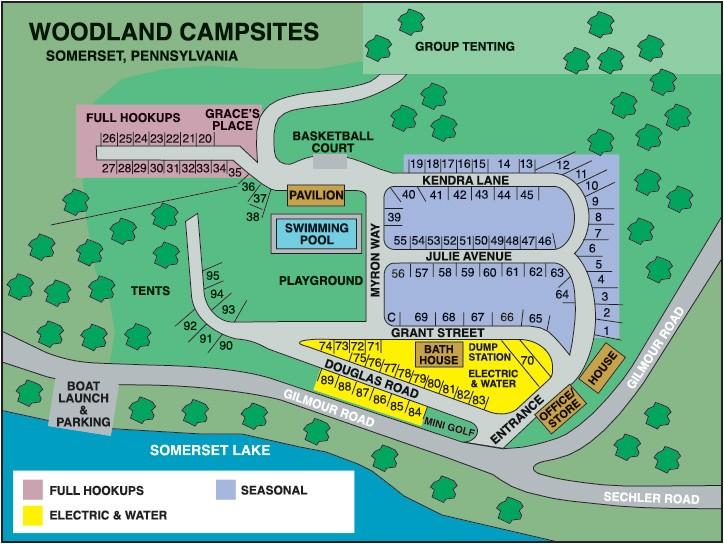 Woodland Campsites - Somerset, PA - RV Parks