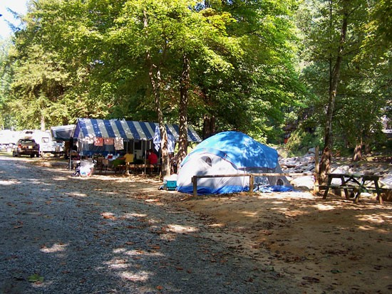 Hickory Nut Falls Family Campground Chimney Rock Nc