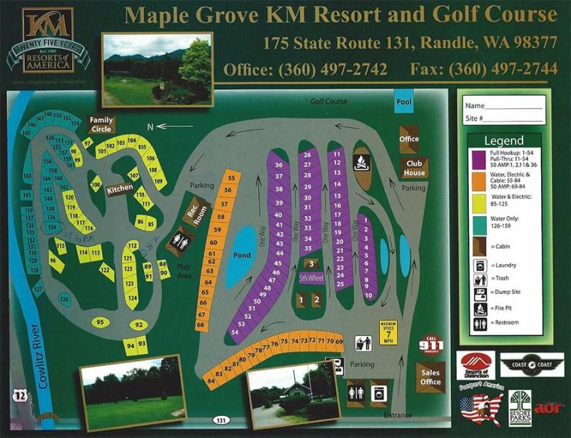 Maple Grove Resort Randle Wa Rv Parks Rvpoints Com