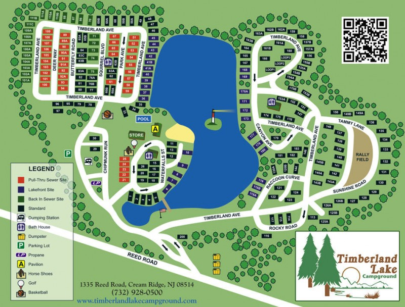 Timberland Lake Campground - Jackson, NJ - RV Parks