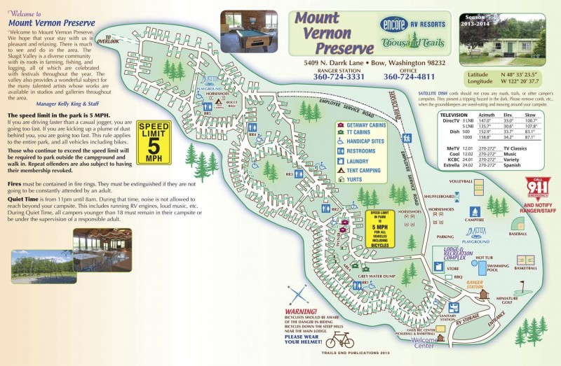 Mount Vernon Rv Campground Bow Wa Thousand Trails