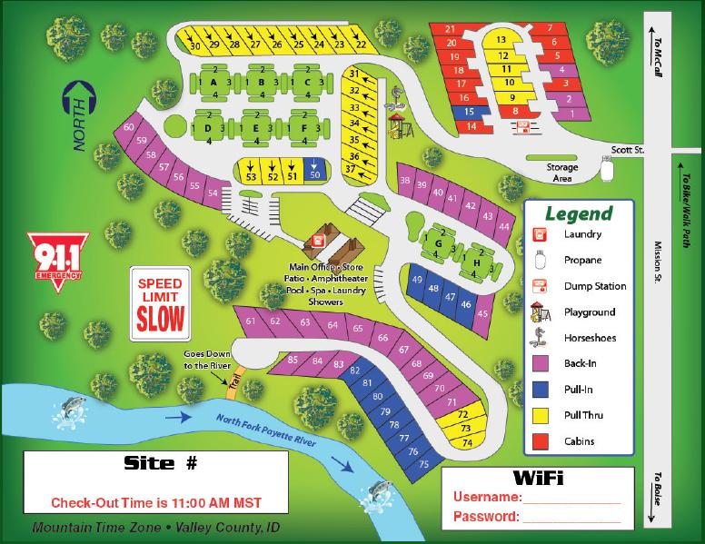 McCall RV Resort - McCall, ID - RV Parks
