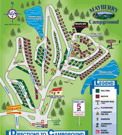 Mayberry Campground - Mount Airy, NC - RV Parks