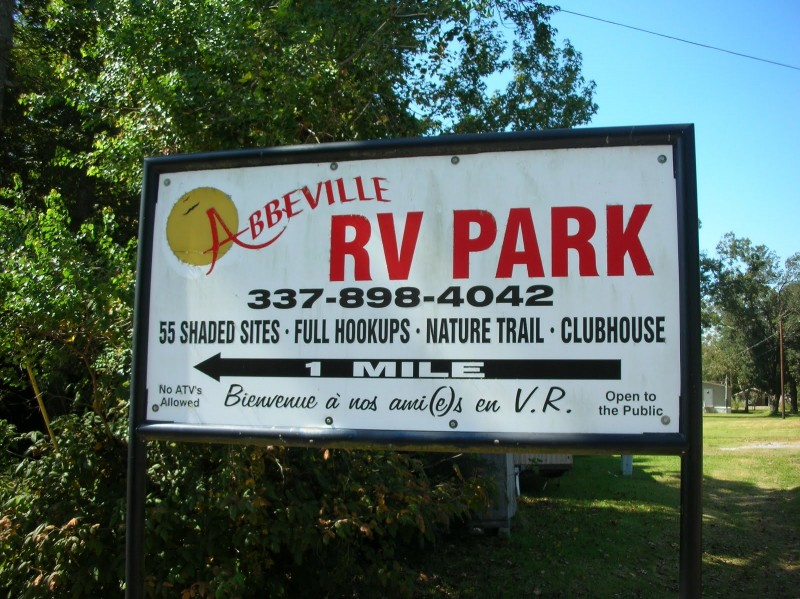 Abbeville Rv Park Abbeville La County City Parks