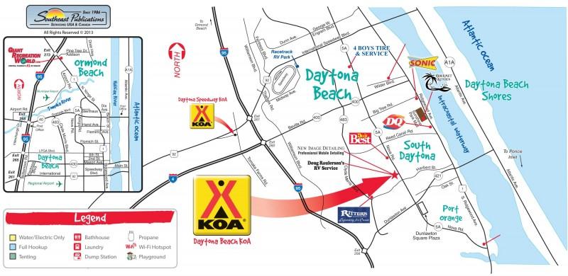 Daytona Beach Koa Port Orange Fl Koa Rvpoints Com