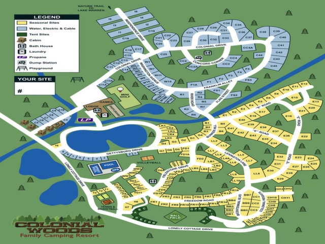 Colonial Woods Family Camping Resort - Upper Black Eddy, PA - RV Parks