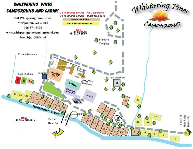 Whispering Pines Campground - Morganton, GA - RV Parks ...