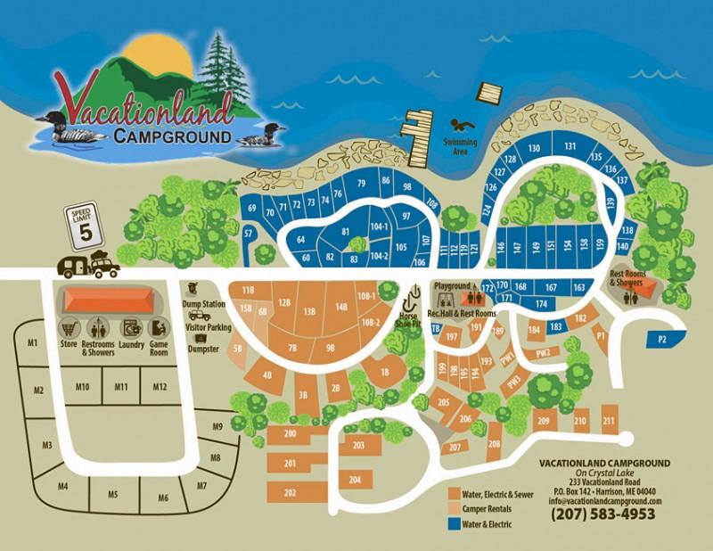 Vacationland Campground Harrison Me Rv Parks