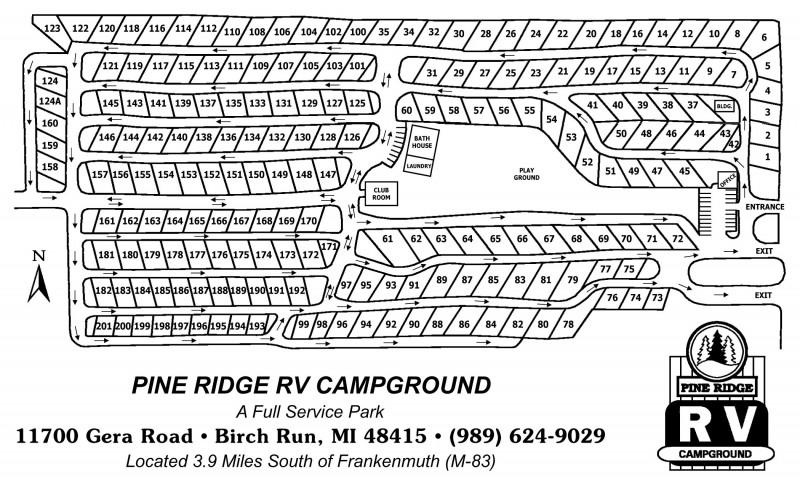 Pine Ridge Rv Campground Birch Run Mi Rv Parks