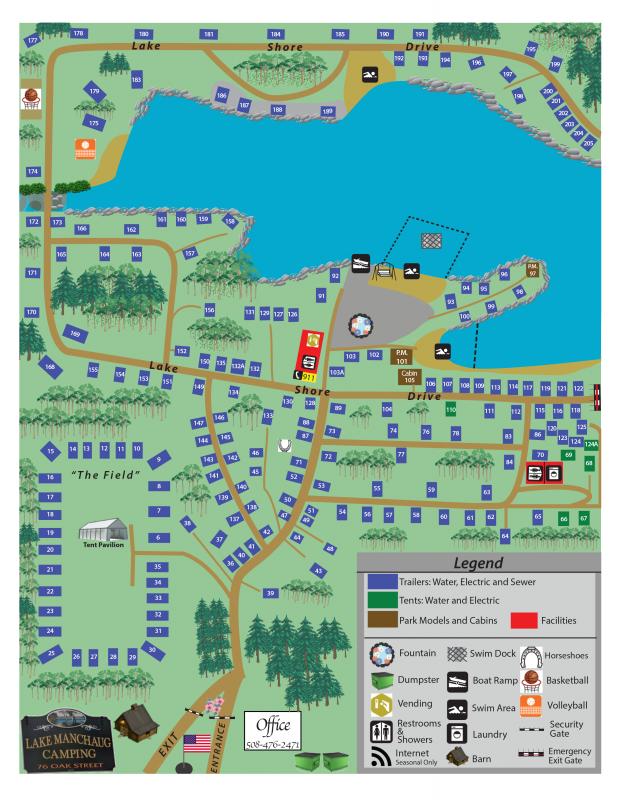 Lake Manchaug Camping - Douglas, MA - RV Parks - RVPoints.com