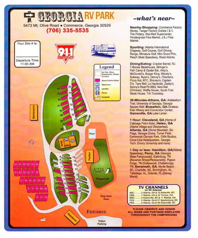 Georgia RV Park - Commerce, GA - RV Parks - RVPoints.com on campgrounds georgia map, hiking georgia map, homes georgia map, golf courses georgia map, casinos georgia map, banks georgia map,
