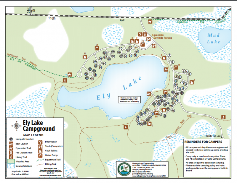 Ely Lake Campground - Allegan, MI - County / City Parks