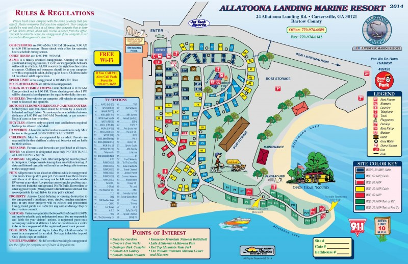 Allatoona Landing Marine Resort - Cartersville, GA - RV Parks