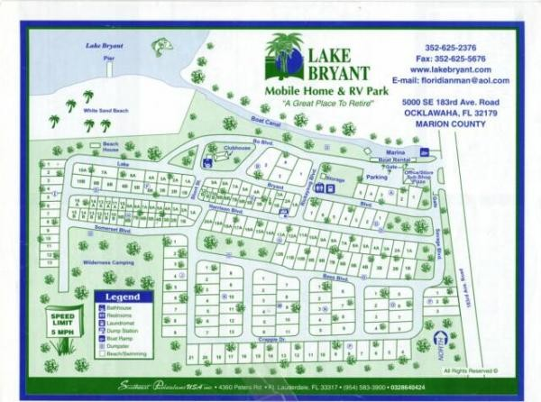 Lake Bryant RV Resort - Ocklawaha, FL - RV Parks