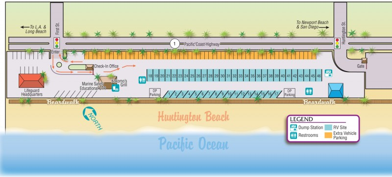 City of Huntington Beach - Sunset Vista RV Park - Huntington Beach, CA - County / City Parks