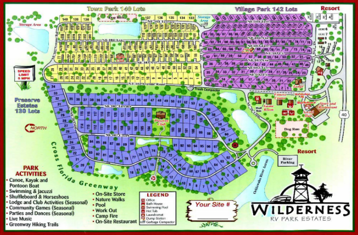 Wilderness RV Resort at Silver Springs - Silver Springs, FL - RV Parks