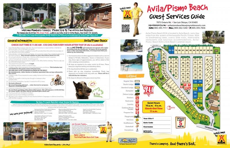 Avila Pismo Beach Koa San Luis Obispo Ca