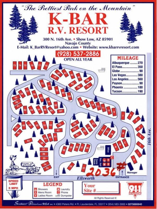 K-Bar Rv Resort - Show Low, AZ - RV Parks