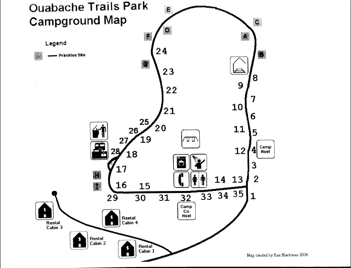 Ouabache Trails Campground - Vincennes, IN - County / City Parks