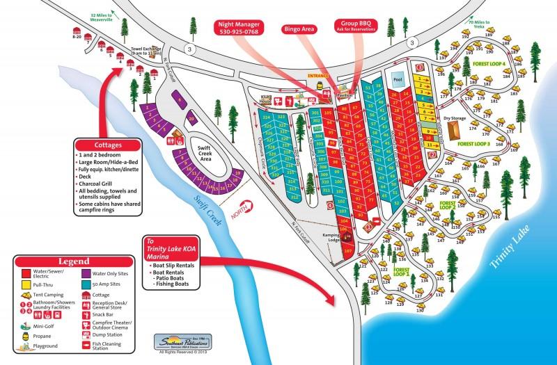 Trinity Lake KOA Trinity Center CA KOA RVPointscom - California koa map