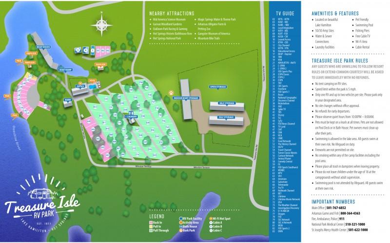 Treasure Isle RV Park - Hot Springs, AR - RV Parks