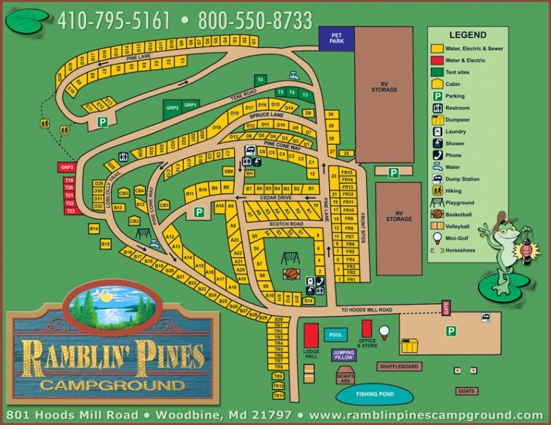 Ramblin' Pines Campground - Woodbine, MD - RV Parks