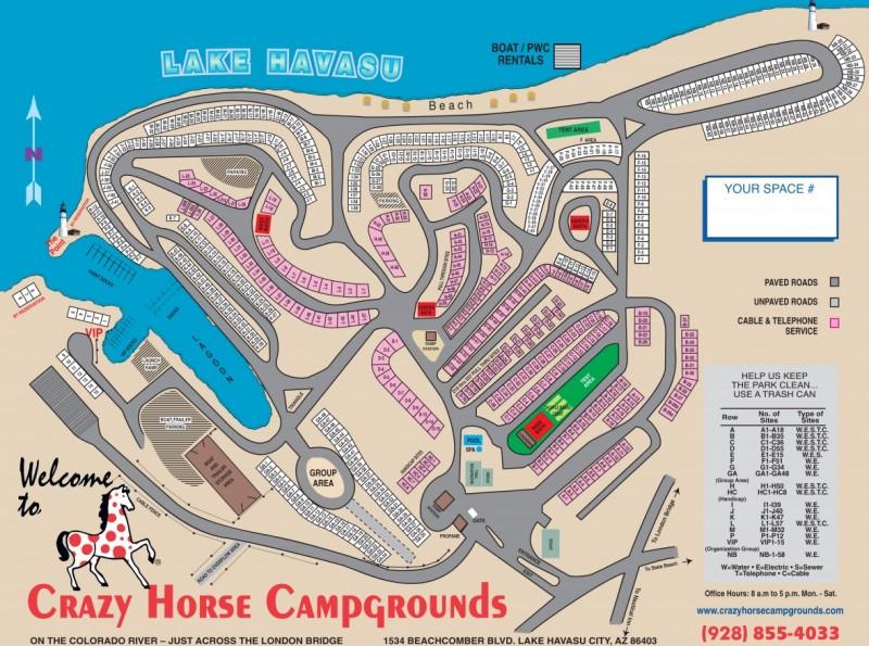 Crazy Horse Campgrounds - Lake Havasu City, AZ - RV Parks