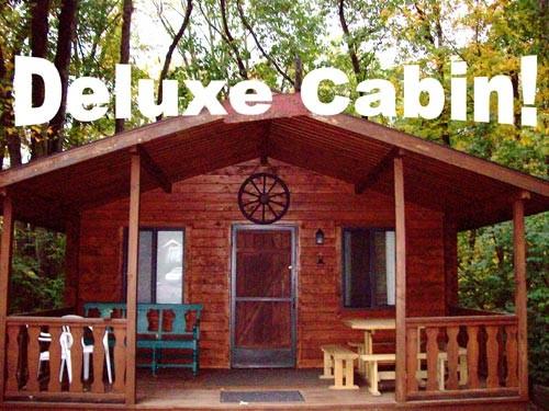 Lake in Wood Camping Resort - Cottage Rental