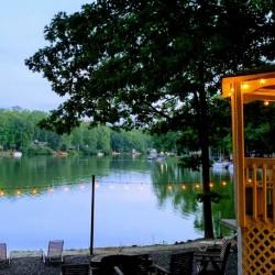 Campsite on a lake