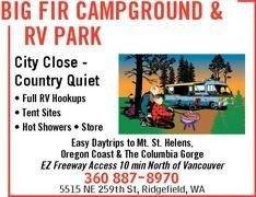 Big Fir Campground & Rv Park - Ridgefield, WA - RV Parks